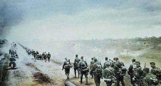 进军中的德国部队