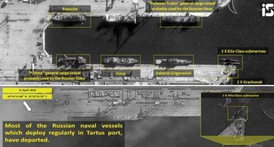 图为塔尔图斯港在数日之内的变化。