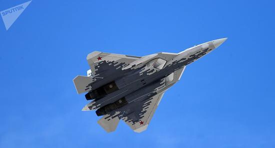 俄罗斯苏-57战机。图片来源见水印。