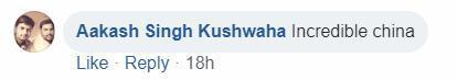 Facebook网民Aakash Singh Kushwaha:不可思议的中国。(Incredible china)