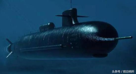 中国核潜艇CG图