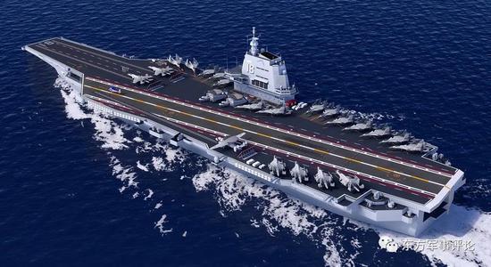 卫星图显示中国新航母已在船厂装配 水线以下已合拢