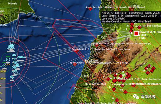 图为现代海空行动中使用系统默认任务编辑进行的战斧巡航导弹打击行动