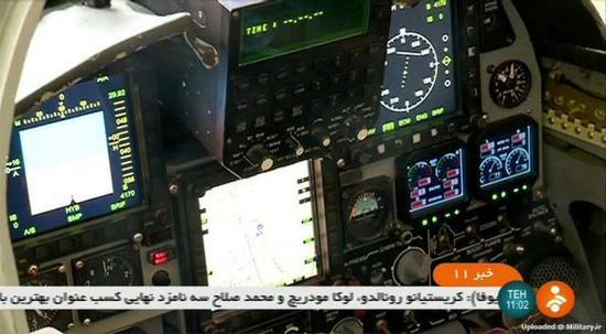 图片:Kowsar战斗机采用了玻璃座舱