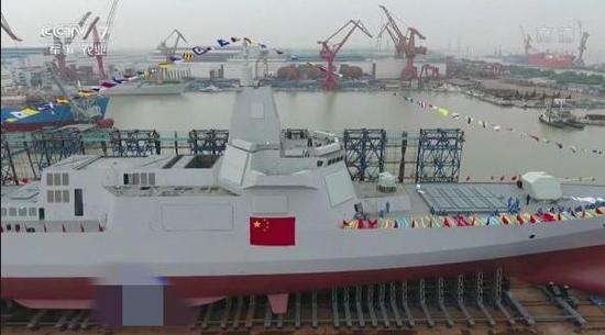 (图为我国055型驱逐舰)