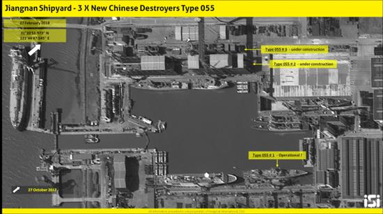 而江南造船厂呢,首艘已经接近舾装完毕