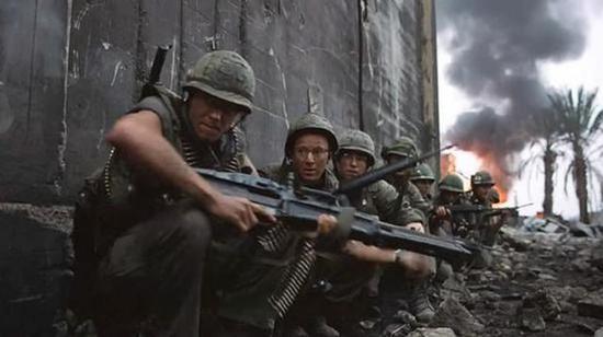 越战美军机枪手