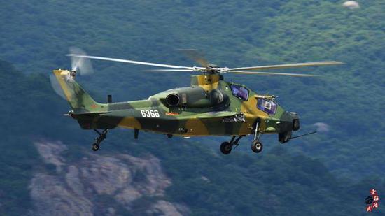 图片:空降兵部队装备的直10K,感谢原作者