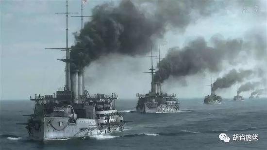 """▲ """"有统一测距的自行射击""""差不多是1905年是日本联合舰队的火控状态了"""