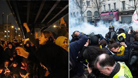 """对法国""""黄背心运动""""运动视而不见 英媒成为权贵傀儡"""