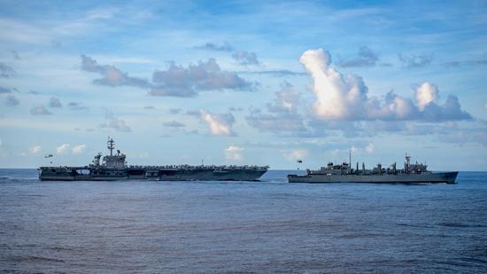 罗斯福号航母战斗群已进入西太海域 多带3艘护航舰