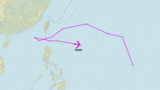 美军B52轰炸机飞入中国南海九段线 系11天内第3次中国美军轰炸机