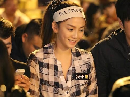 """2014年,刘乔安参与""""太阳花学运""""静坐。(图片取自台媒)"""