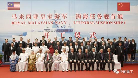 中国出口马来西亚首艘濒海任务舰在武汉开工(图)