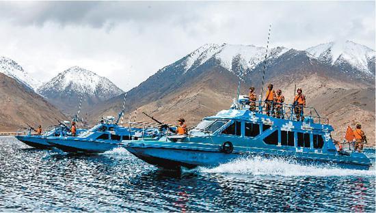 我军驻藏边防巡逻艇分队:我们就是湖上流动的界碑