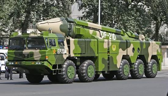 中国火箭军东风-21D反舰弹道导弹