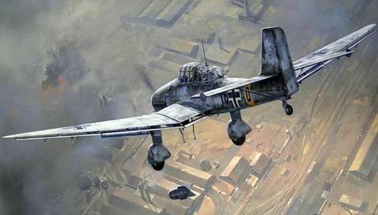 JU87可以大角度俯冲轰炸