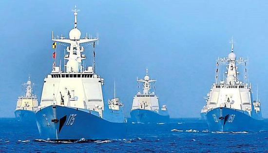 图片:中国海军驱逐舰群