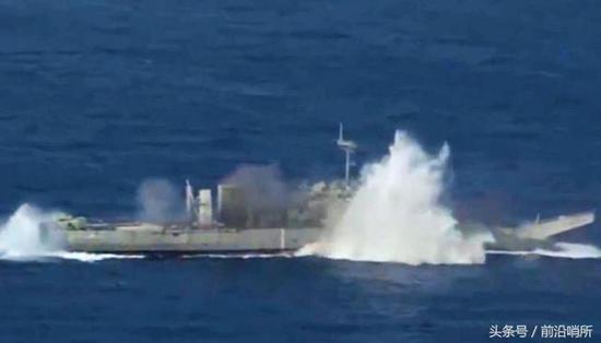 环太军演参演国家演练实弹打靶 中国军舰全程围观