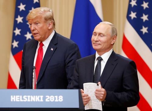 英媒:特朗普为俄辩护激怒美政界 普京成最大赢家