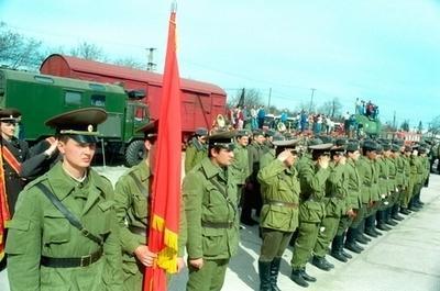 集结待命的苏军部队