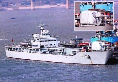我国在登陆舰上配备电磁实验炮