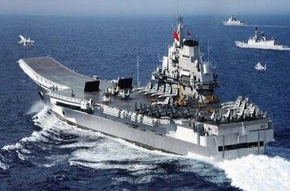 16号辽宁舰在西太进行舰载机起降演练