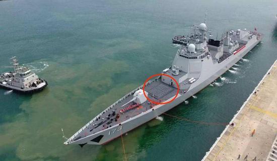 052D型驱逐舰只有舰艏的部分垂发单元可装载鹰击-18导弹。