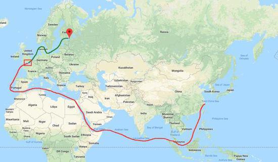 ▲S-400防空导弹的回国之路(©军机图)