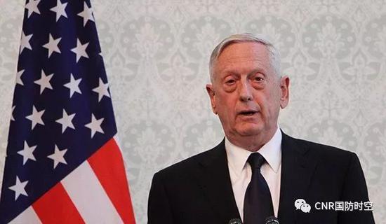 ▲美国国防部长马蒂斯