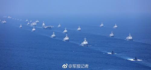 海上阅兵不但数量多,而且质量高,出动的大多是人民海军的主力舰