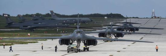 美军在关岛部署了不少B-1B