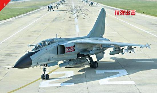 图片:歼-16能够挂载歼轰-7A所有的机载对地攻击武器