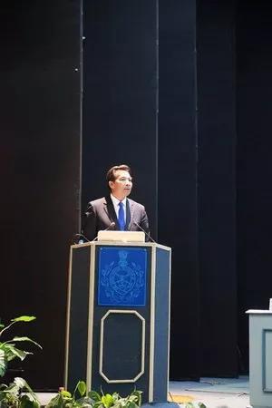 羅照輝在印度三軍協會演講