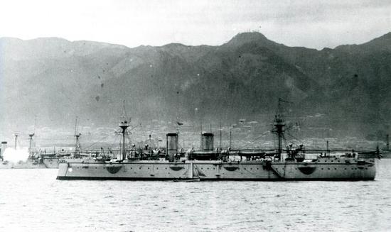 图注:北洋舰队去日本访问,却被看穿底细