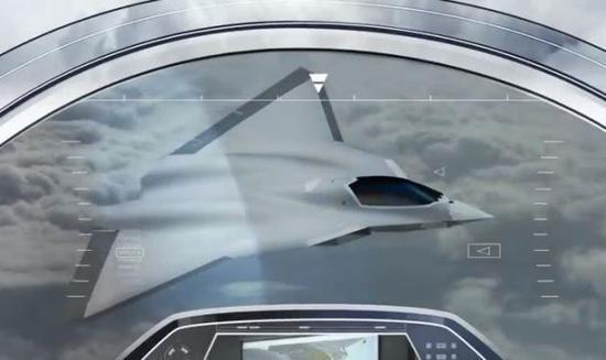 法德联合研发下一代战斗机宣传图。