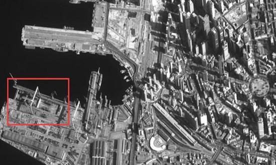 卫星照片显示中国第六艘055在建