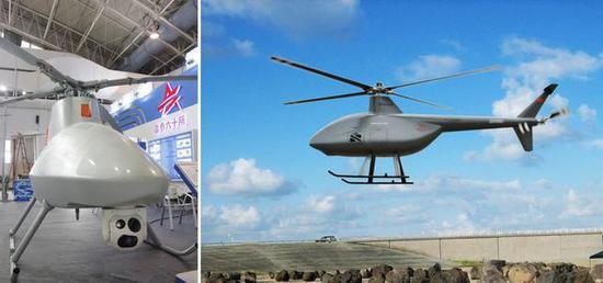 (图中的WZ-6B无人直升机同样具备了水面舰艇自主回收能力)