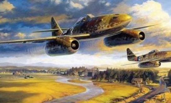 德国当时装备的喷气战斗机