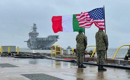 意大利加富尔号航母抵美 即将迎接F-35B五代机上舰