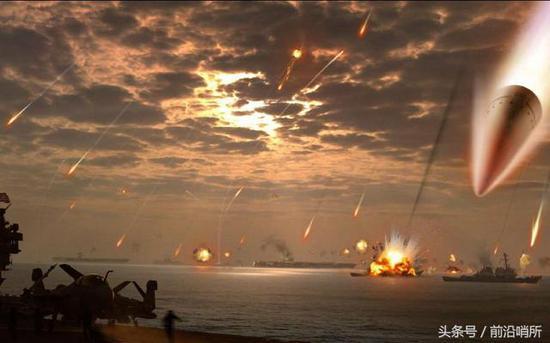 东风导弹模拟攻击