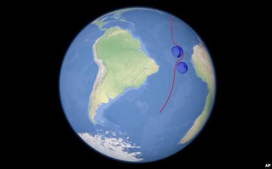 """▲官方发布的""""海燕""""核动力巡航导弹机动规避反导拦截示意图"""