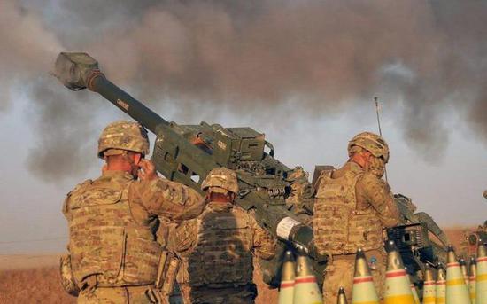 美军在世界许多地方燃烧战火