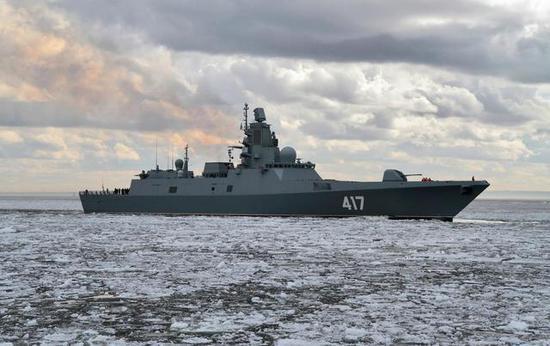 图片:22350型是第一种装有4面相控阵的俄罗斯护卫舰