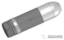 国产20mm智能空炸榴弹3D模型