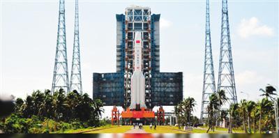2016年11月,长征五号在海南文昌发射场成功首飞(资料图)  新华社发