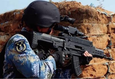 解放军海军陆战队试用QTS-11单兵作战系统