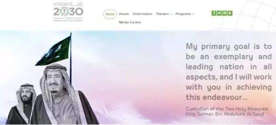 ▲沙特远景2030计划官网