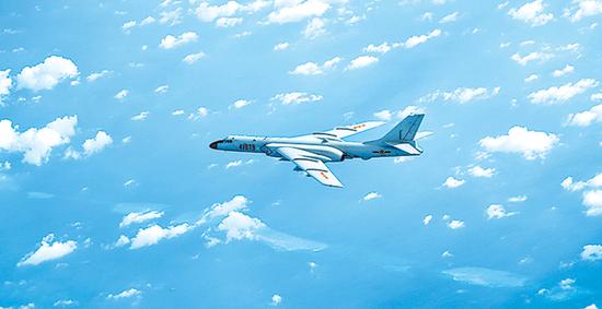 台媒:解放军远海训练创记录 换装轰6K后