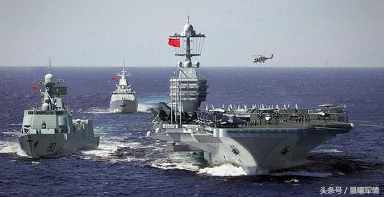 未来我国航母战斗群想象图